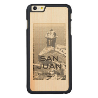San Juan Puerto Rico Funda De Arce Carved® Para iPhone 6 Plus Slim