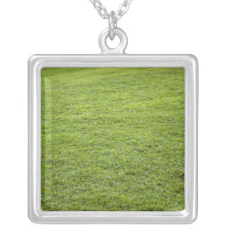 San Juan, Puerto Rico - Green grass is Silver Plated Necklace