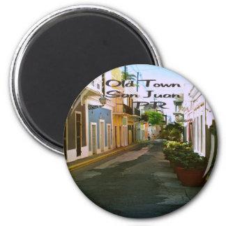 San Juan Puerto Rico Imán Redondo 5 Cm