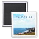 San Juan Puerto Rico Travel Photo Souvenir 2 Inch Square Magnet