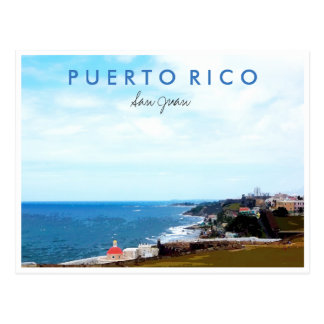 San Juan Puerto Rico Travel Photo Souvenir Postcard
