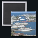 """San Juan Puerto Rico Travel Souvenir Fridge Magnet<br><div class=""""desc"""">Tip: dated travel magnets are a great way to chronicle your travels and Zazzle makes it easy to add a date.</div>"""