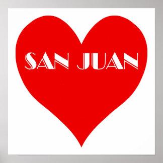 San Juan Red Heart Poster