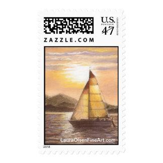 San Juan Sailboat Stamp