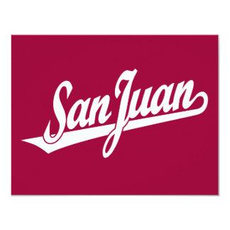 San Juan script logo in white Card