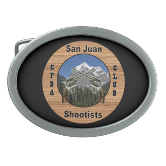San Juan Shootist oval belt buckle