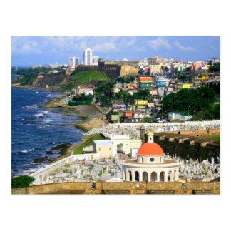 San Juan soleado Puerto Rico Tarjetas Postales
