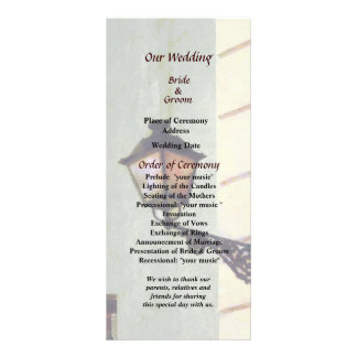 San Juan Street Lamp Wedding Program Custom Rack Card