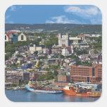 San Juan, Terranova, Canadá, la costa costa Pegatina Cuadrada