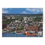 San Juan, Terranova, Canadá, la costa costa Tarjetón