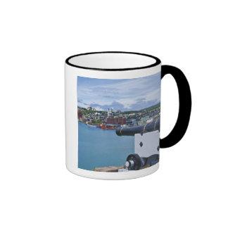 San Juan, Terranova, Canadá, la costa Taza A Dos Colores