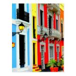 San Juan viejo - las casas de fila vibrantes punte Postales