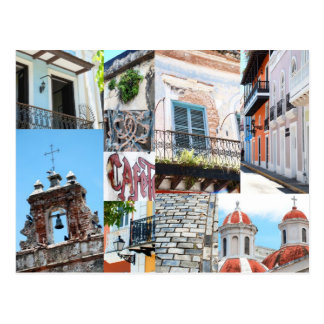 San Juan viejo, Puerto Rico - collage de la foto d Tarjetas Postales