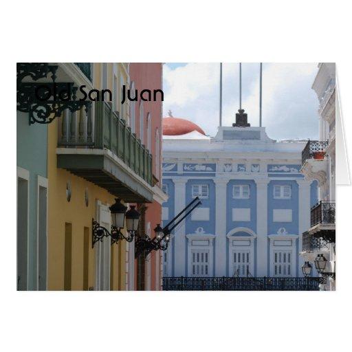 San Juan viejo Tarjeta De Felicitación