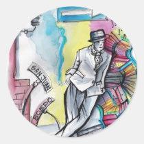 tango, capo, compadrito, guapo, milonga, comic, cartoon, character, argentina, bandoneon, dance, dancing, buenos, aires, patricia, vidour, artistic, creative, slam dancing, slam dance, pavan, saraband, toe dance, stage dancing, hoofing, toe dancing, fictitious character, nauch, nautch dance, courante, nautch, imaginary creature, imaginary being, fine art, pavane, performing artist, ritual dance, social dancing, ritual dancing, aire river, Sticker with custom graphic design