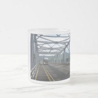 San Juanico bridge Frosted Glass Coffee Mug