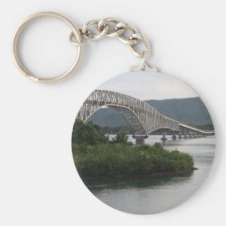 San Juanico Bridge Basic Round Button Keychain
