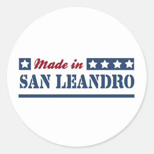 San Leandro CA.png Pegatina Redonda