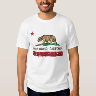 san leandro california state flag tee shirt