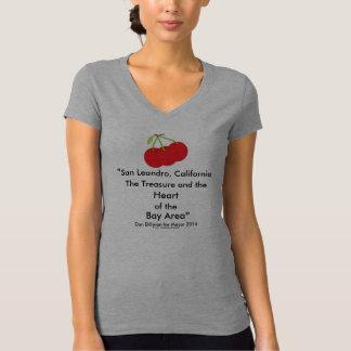 San Leandro, California Treasure Heart of Bay Area T-Shirt