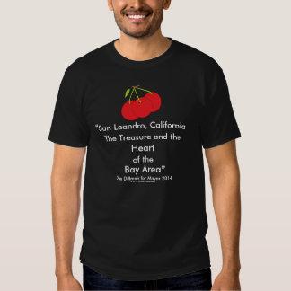 San Leandro, California Treasure Heart of Bay Area Tee Shirt