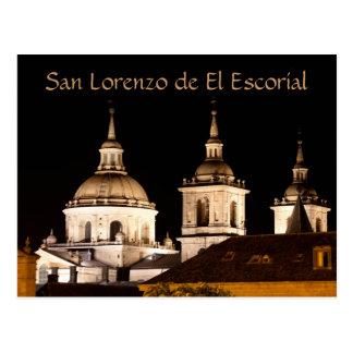 San Lorenzo de El Escorial Monastery, Spain at Nig Postcard