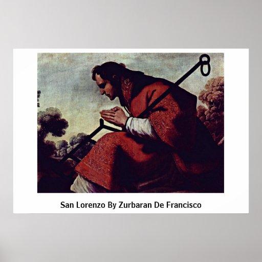 San Lorenzo de Zurbaran De Francisco Impresiones