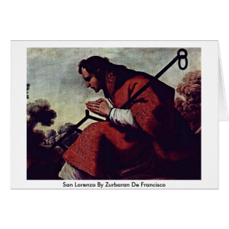 San Lorenzo de Zurbaran De Francisco Tarjetas