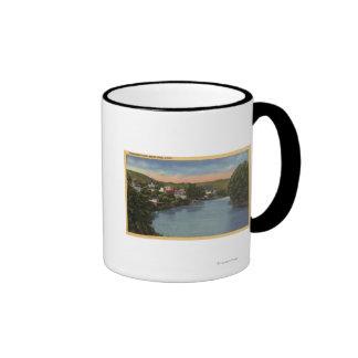 San Lorenzo River View of City Ringer Coffee Mug