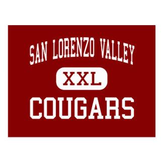 San Lorenzo Valley - Cougars - High - Felton Postcard