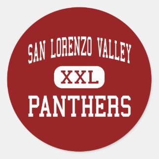 San Lorenzo Valley - Panthers - Junior - Felton Classic Round Sticker