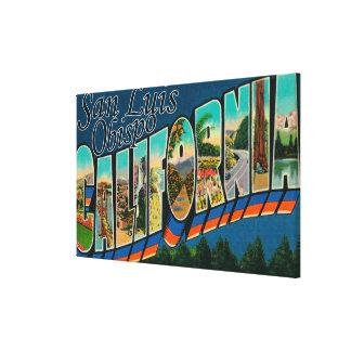 San Luis Obispo, California - escena grande de la  Impresión En Tela