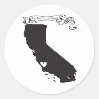San Luis Obispo Round Stickers