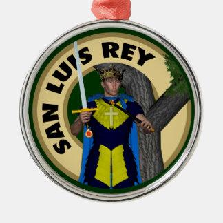 San Luis Rey de Francia Metal Ornament