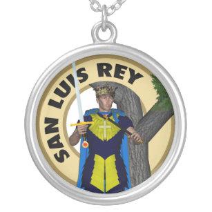 San Luis Rey de Francia Silver Plated Necklace