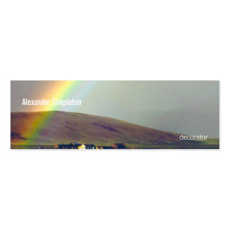 San Luis Valley After Rain Double-Sided Mini Business Cards (Pack Of 20)
