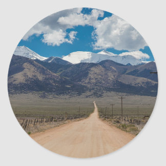 San Luis Valley Back Road Cruising Classic Round Sticker