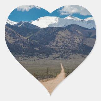 San Luis Valley Back Road Cruising Heart Sticker