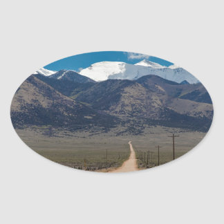 San Luis Valley Back Road Cruising Oval Sticker