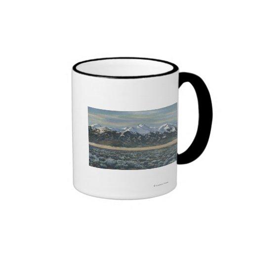 San Luis Valley, Colorado Ringer Coffee Mug