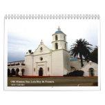 San Luis viejo Rey de Francia de la misión Calendarios De Pared