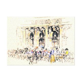 San Marco Café cuadrado 1901 Impresión En Lienzo Estirada