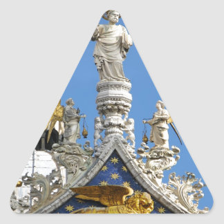 San Marco cathedral  Venice Italy Triangle Stickers