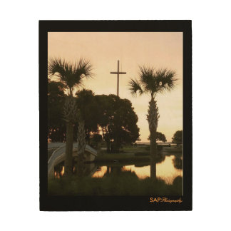 San Marco Sunset Cross of Salvation Wood Wall Art