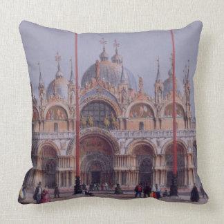 San Marco, Venecia, grabada por Brizeghel (litho) Almohada