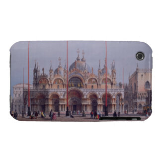 San Marco, Venice, engraved by Brizeghel (litho) iPhone 3 Case-Mate Case