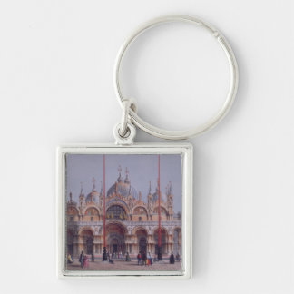 San Marco, Venice, engraved by Brizeghel (litho) Key Chains