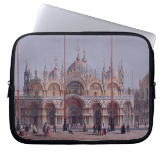San Marco, Venice, engraved by Brizeghel (litho) Laptop Sleeve