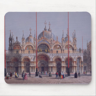 San Marco, Venice, engraved by Brizeghel (litho) Mouse Pad