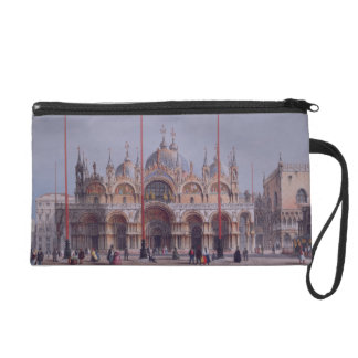 San Marco, Venice, engraved by Brizeghel (litho) Wristlet Purse